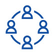 Individuals working together icon